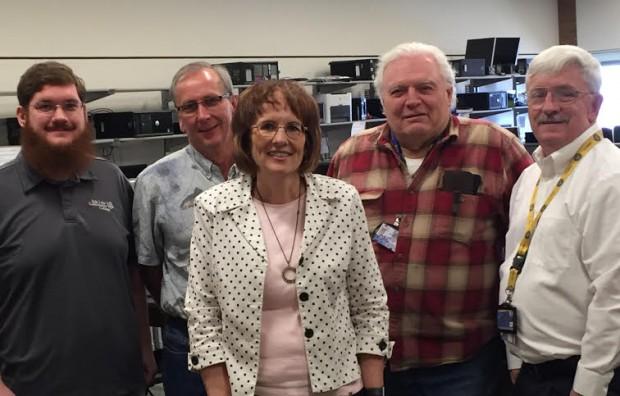 From left to right: Nathan Fyffe, Brett Wheelock, Kathy Himle, Ron Whiteman, Herb Davis