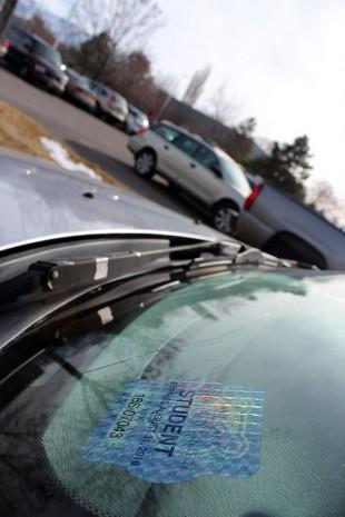 Student parking sticker