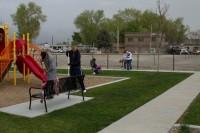 Volunteers clean up park