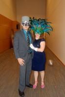In costume for Masquerade Ball