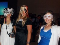 Girls in costume at Masquerade Ball