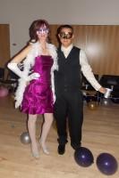 Couple in costume for Masquerade Ball