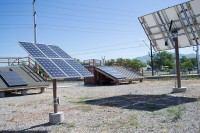 Solar panels at Meadowbrook Campus