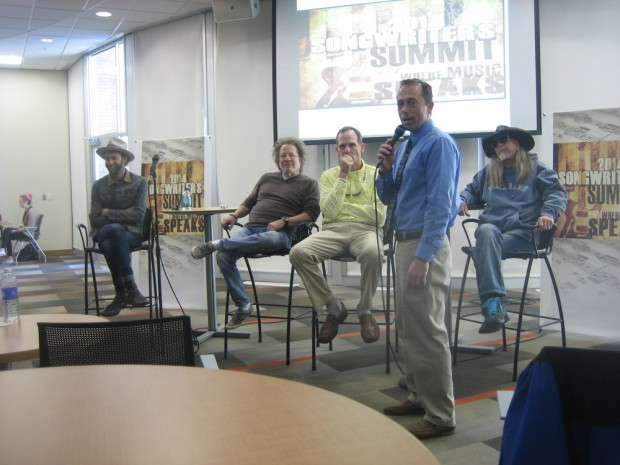 From left to right: Paul McDonald, Steve Dorff, Dan Spears, Kelly Hammer, Dean Dillon