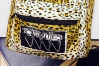 The Casualties patch on cheetah backpack