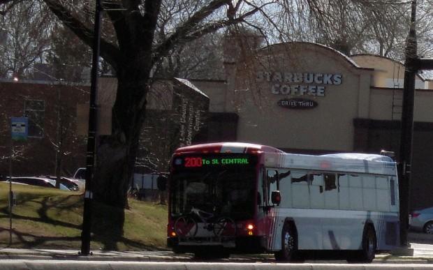 UTA bus in Salt Lake City