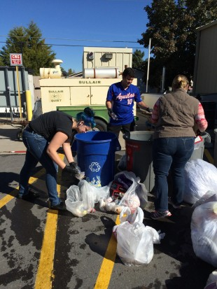 SLCC Environmental Science students take part in a waste audit