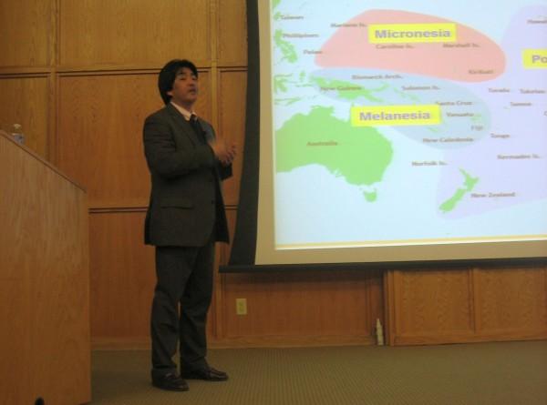 Visiting Professor Kiyoshi Haida talks about Oceania.