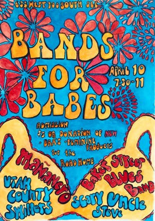 Bands for Babes concert poster