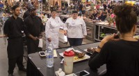 SLCC culinary students stand before judges