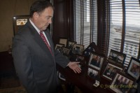 Governor showing his MLS Championship ring given the him by Salt Lake Reals Soccer Team after thier win in 2009