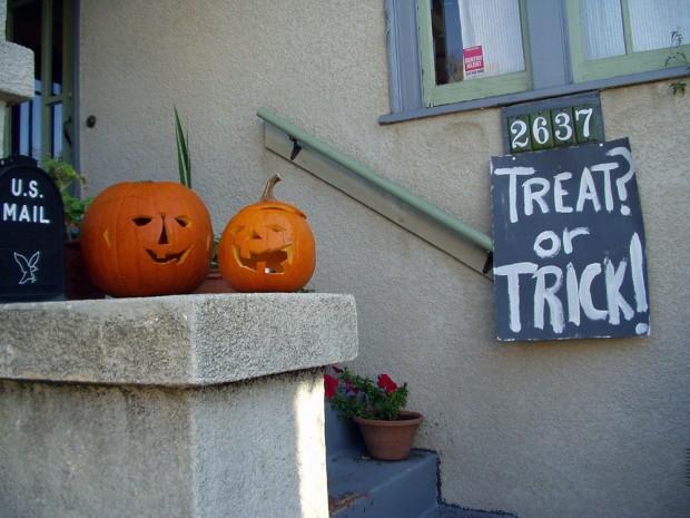 Treats or trick on Halloween