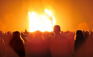 A bonfire lit in 2010 at Himley Hall near Dudley