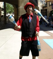 Funny man and SLCC Alumni Marcus Wilson preforms his tricks for amazed onlookers at this weekends festival