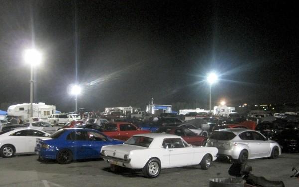 Dozens of cars at Rocky Mountain Raceway