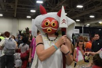 A cosplay of San from the film Princess Mononoke.