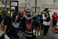 An attendee dressed as Zant from The Legend of Zelda.
