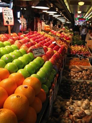 Fruit market in Seattle