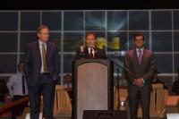 Gary Herbert with Dan Farr and Bryan Brandenburg at FanX