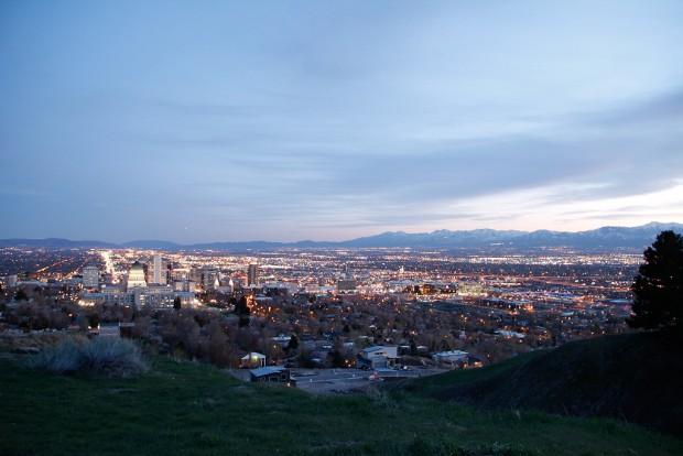 Overlooking the Salt Lake Valley