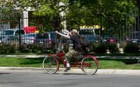 Bike ride in the city