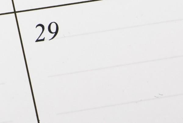 February 29 on a calendar