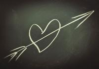 Heart on a chalkboard (Shutterstock)