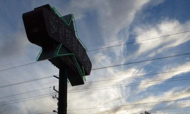 The sign for the Stella Grill