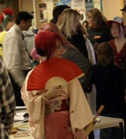 Geishas, ninjas and even a few spidermen prowl around the Anime Fest held at SLCC Redwood campus on Friday night