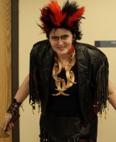Rufio (Brittany Tryon) greets us with a bow at the Anime fest
