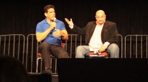 Lou Ferrigno, left, and Tony Toscano