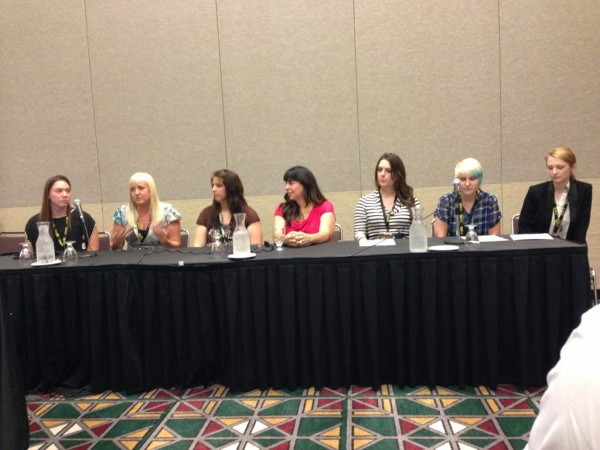 (Left to Right) Lauren McLemor, Jeanette Pavarti, Connie Beaty, Amy Adkins, Amy Federico, Tara Swanson and Jenna Kemker.