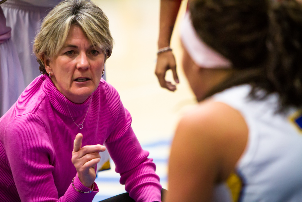 Head coach Betsy Specketer
